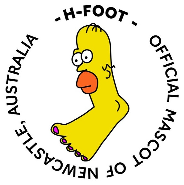 Interview – We Chat With the Artist and Vandal Behind H-Foot; the Unofficial, Official Mascot of the City of Newcastle, NSW, Australia.